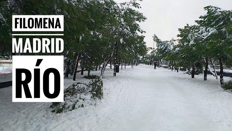 Nevada Filomena Madrid Rio